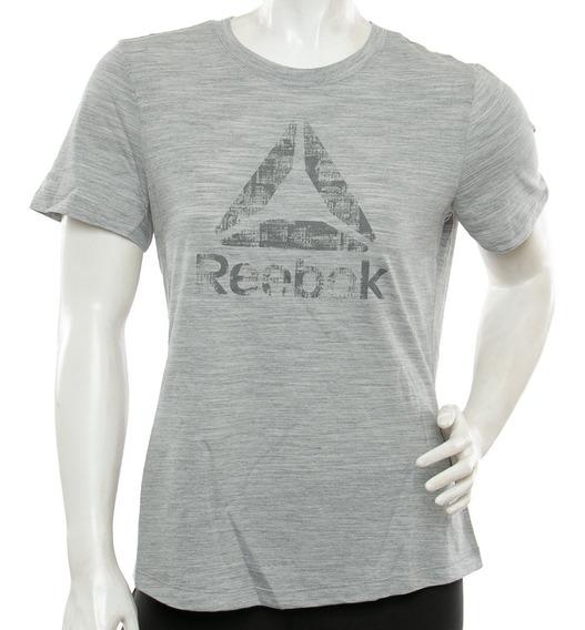 Remera El Marble Logo Grey Reebok