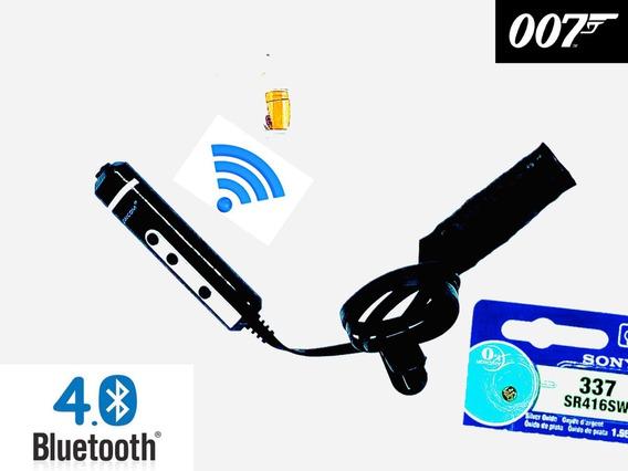 (fone Invisível Micro Ponto Espião Eletronico Escuta Slim G4