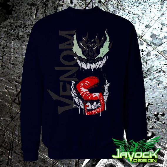 Sudadera Venom 1 Brilla En La Oscuridad Cuello Redondo