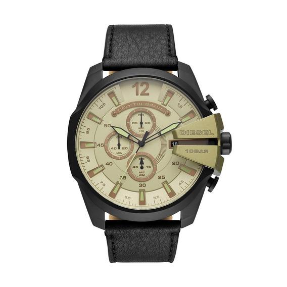 Relógio Masculino Diesel Dz4495/0pn 52mm Couro Preto