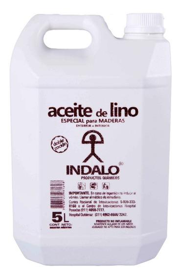 Aceite De Lino - Doble Cocido Linaza Madera - Bidon 5 Litros
