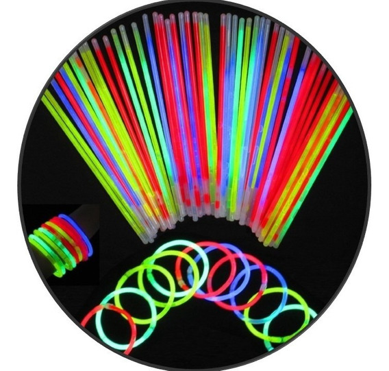 45 Pulsera Neon Cyalume Luminosa Glow Fiesta Boda Batucada