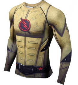 Playera Flash Reverso Ml Crossfit Dc Comics Superheroe