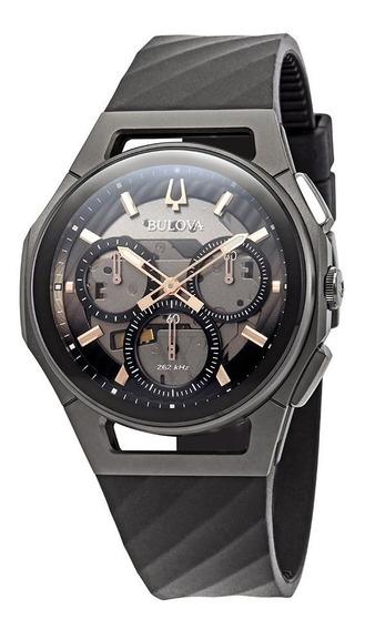 Relógio Bulova Curv Cronógrafo Dark Grey Dial-98a162