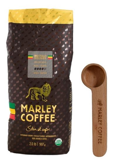 Café Marley Coffee Grano Buffalo Soldier 907g + Spoon Clip