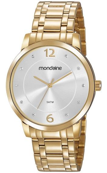 Relógio Dourado Mondaine Original 83467lpmvde2