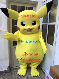 Pikachu Disfraz Cabezon Pokemon Charizard Alq