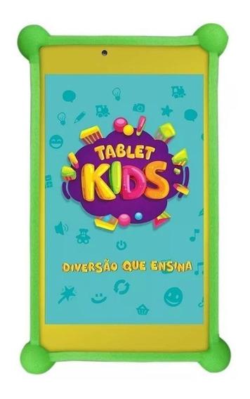 """Tablet com capa DL Kids C10 TX394BBV 7"""" 8GB branco/amarelo com memória RAM 1GB"""