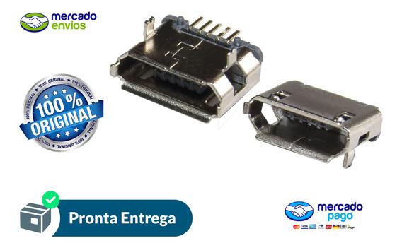 Conector Micro Usb V8 5 Pinos Tablet Positivo Philco Dl 10x