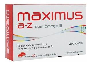 Maximus A-z Com Ômega 3 Com 30 Cápsulas