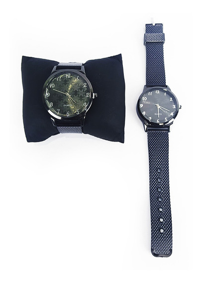 Relógio Feminino Efeito Metálico Quartz Preto Snowflake