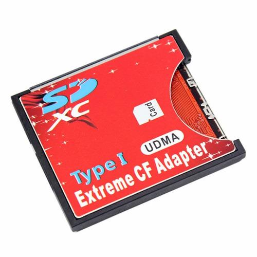 Adaptador Memoria Sd A Compact Flash Cf Tipo I Udma Sd 3.0