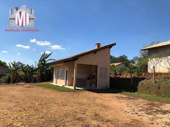 Chácara Com Escritura E 01 Dormitório À Venda, 1000 M² Por R$ 200.000 - Zona Rural - Pinhalzinho/sp - Ch0365