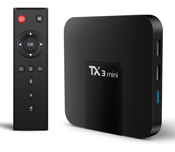 Caixa De Tv Tanix Tx3 Mini Standard 4k 16gb Preto Com 2gb Ra
