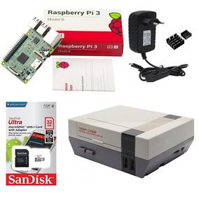 Kit Básico Raspberry Pi 3 - 32gb Case Retroflag Nespi