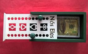Caixa Para Jogos (baralho) Personalizada Cor Verde Militar