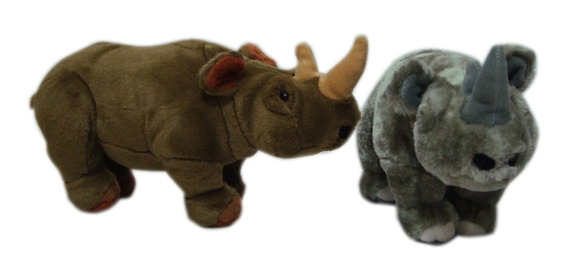 Rinoceronte De Pelúcia Pequeno Safari Animais Selvagens