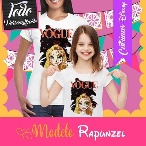 Playera Catrina Princesa Disney Rapunzel