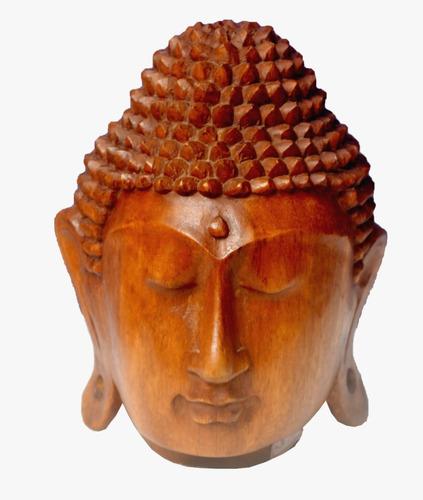 Cabeça Buda Entalhada