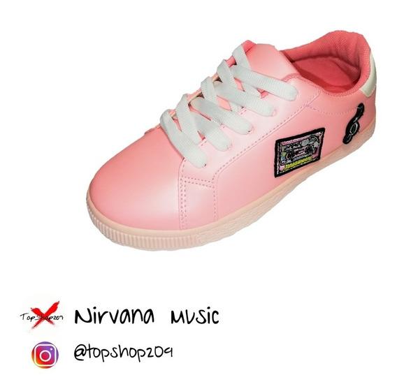 Zapatos Para Dama Niñas Estilo Sneakers Skeachers Vans Skate