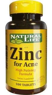 Natural Life Zinc For Acne X 30 Tabletas Good Natural