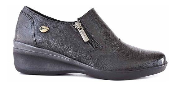 Zapatilla Cuero Mujer Briganti Zapato Confort Goma Mczp05274