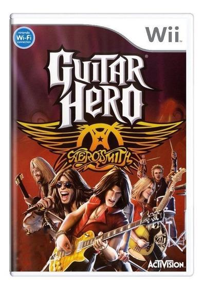 Guitar Hero Aerosmith Wii Mídia Física Pronta Entrega