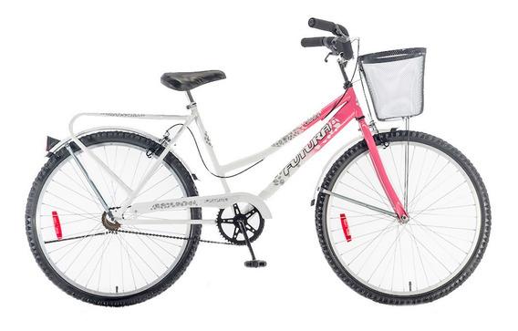 Bicicleta Rodado 26 Futura Country Rosa