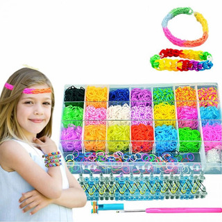 4400 Pieces Elastic Bands Rainbow Loom Bands Kit S-clips And