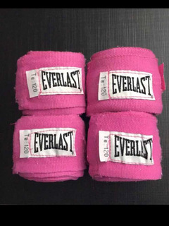Bandagem Atadura Everlast Rosa Boxe Muai Thai