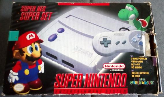Super Nintendo Baby + Caixa + Isopor + Manete + Fonte + Rf