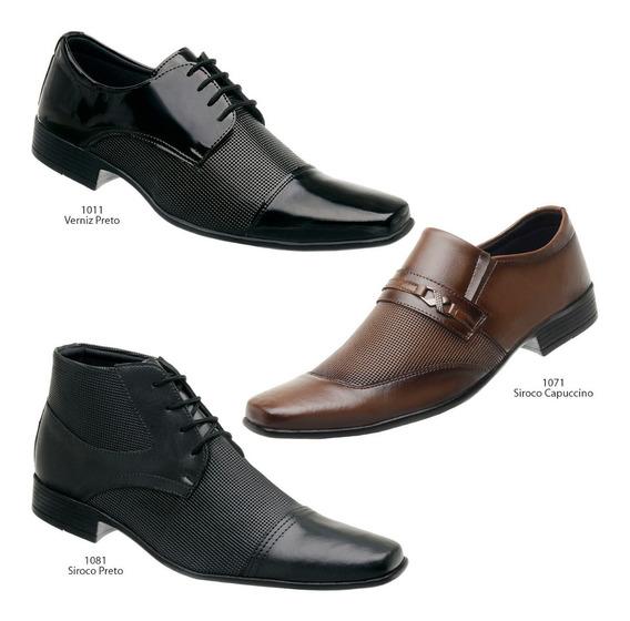 Sapato Social Masculino 3 Pares Frete Grátis Super Conforto