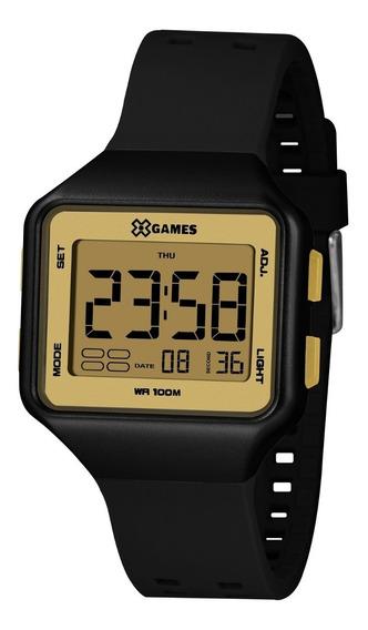 Relógio X-games Feminino Digital Xlppd039 Cxpx Preto Dourado
