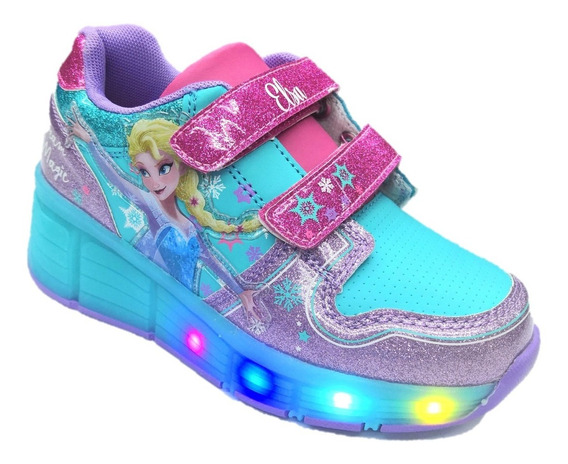 Tenis Patines Frozen Led 2019 Original + Envio Gratis