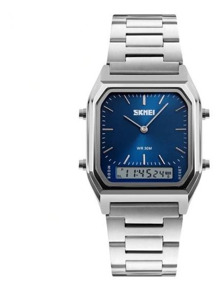 Relógio Importado Retrô Vintage Aço Inox Unissex Barato