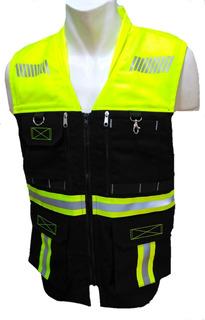 Chaleco Seguridad Reflejante Ingeniero Vial Alta Calidad