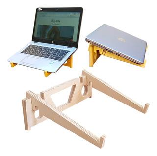 Soporte Base Para Notebook Madera De Diseño 4 Posiciones