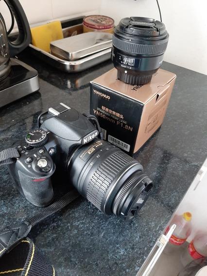 Câmera Fotográfica Nikon D3100 + Lente 50 Mm + Bag