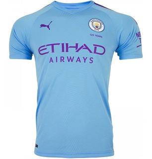 Camisa Do Manchester City Azul Bebê Preta Lançamento Nova