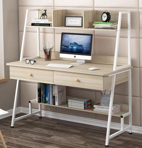 Escritorio Mueble Moderno Con Repisas Integradas - Mr Price