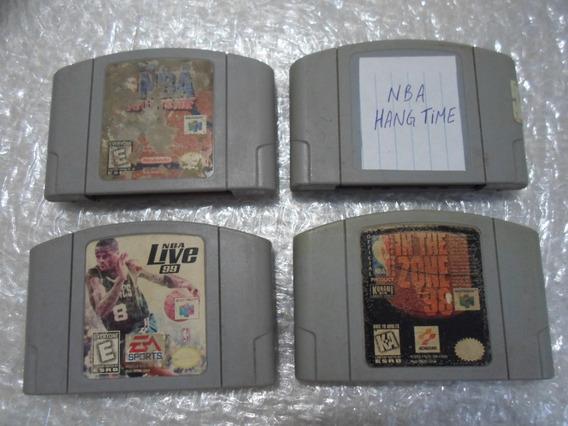 4 Jogos Nba Basquete Para Nintendo 64.