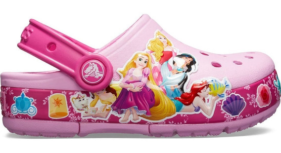 Crocs Originales Fun Lab Princess Con Luz Niñas Kids Asfl70