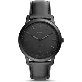 Relógio Masculino Fossil Fs5447/opn Pulseira Couro Preta