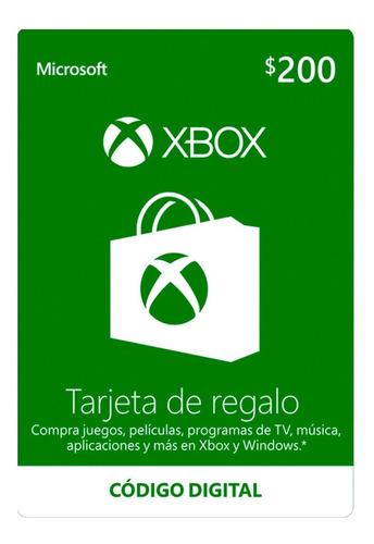 Imagen 1 de 1 de Tarjeta Dinero Xbox Live 2 De $200 Codigo, Leer Requisitos!