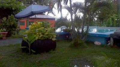 Propiedad Con Casa, Cabinas Y Negocio En Playa Guacalillo