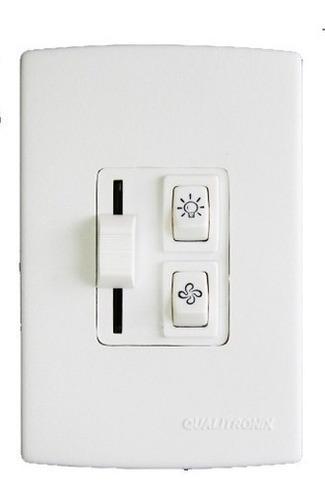 Imagem 1 de 1 de Controle Ventilador Deslizante 1 Lamp Qualitronix Qv36