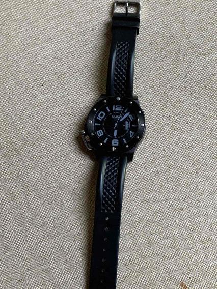 Reloj Branzi Negro Con Extensible De Caucho 100% Original