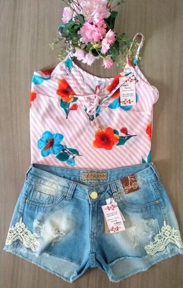 Kit Blusa E Shorts