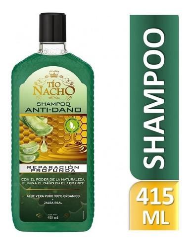 Imagen 1 de 1 de Tío Nacho Shampoo Anti Daño Aloe Vera 415 Ml
