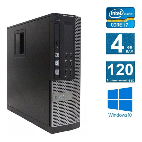 Computador Desktop Dell Optiplex 7010 I7 4gb 120ssd